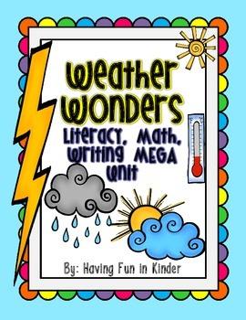 Weather Wonders Literacy, Math, Writing MEGA Unit