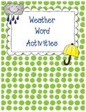 Weather Word Activities