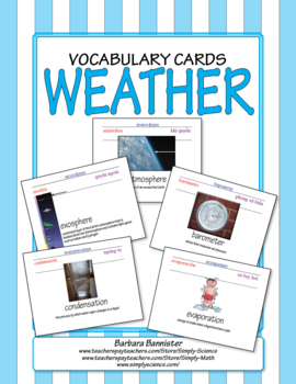 Weather Word Cards
