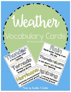 Weather Word Cards | Science Vocabulary Word Wall