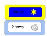 Weather Word Chart Cards