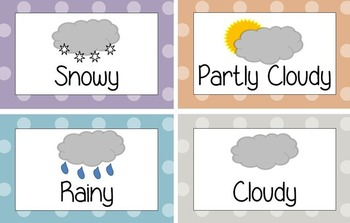 Weather Word Chart Printable