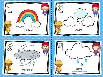 LOW PREP Weather Themed Syllables Write the Room