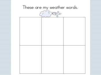 Weather Word Recording Chart