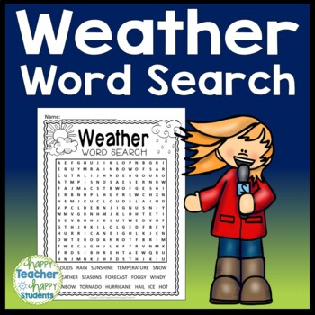 Weather Word Search Activity