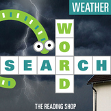 Weather Word Search Puzzle - 3 Levels Differentiated