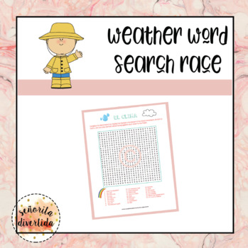 El Clima / Weather Word Search Race