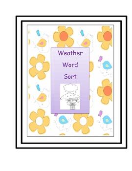 Weather Word Sort