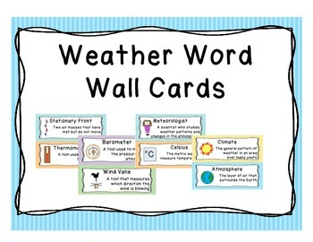 Weather and Water Cycle Word Wall