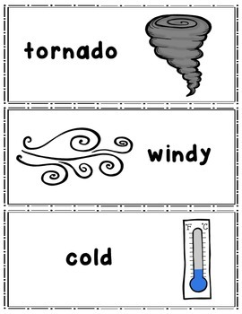 Weather Writing Center Cards