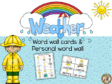 Weather Word Wall Cards & Personal Word Wall
