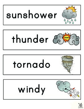 Weather Word Walls and Literacy Center