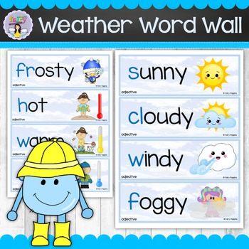 Weather Word Wall - Posters and Labels (Including Editable