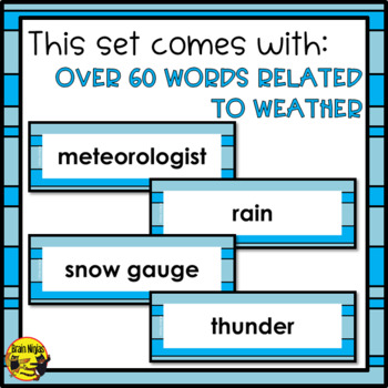 Weather Word Wall Words- Editable