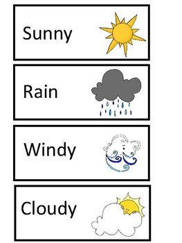 Weather Word Wall Words - English and Spanish
