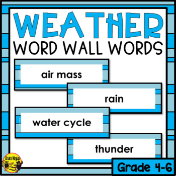 Weather Word Wall Words- Editable
