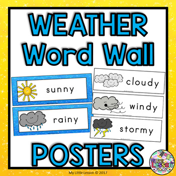 Weather Word Wall and Posters