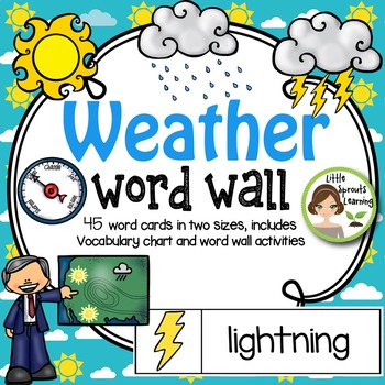 Weather Word Wall (includes weather instruments and water cycle)