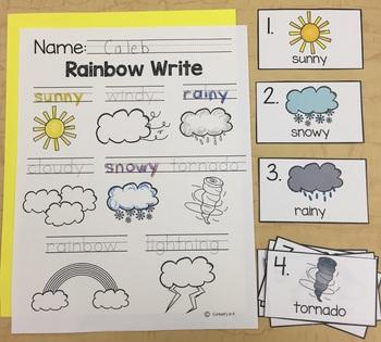 Weather Word Work