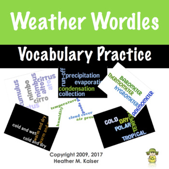 Weather Vocabulary Review