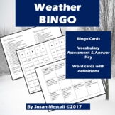 Weather Words  Bingo!