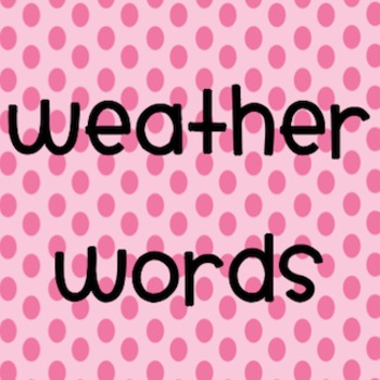 Weather Words Booklet
