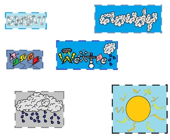 Weather Words Clipart - For Personal or Commercial use!