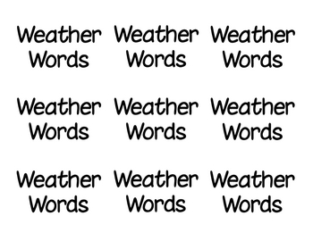 Weather Words Concentration