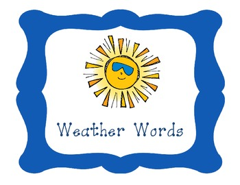 Weather Words- File Folder Word Wall