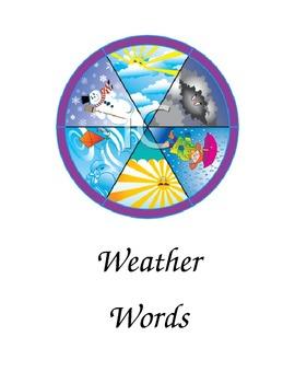 Weather Words Folder