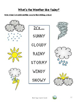Weather Unit – Let`s play and learn!