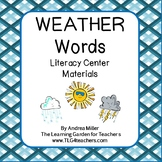 Weather Words Literacy Center Materials