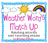 Weather Words Picture-Word Matching w/ Differentiated Prin