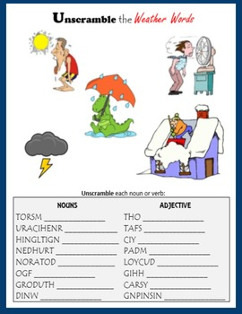 Weather Words Printables
