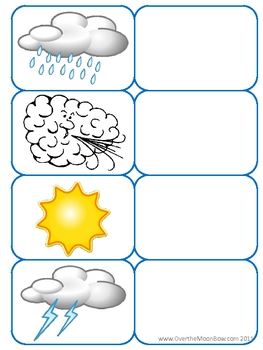 Weather Words Science File Folder Game