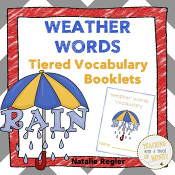 Weather Vocabulary Book One: Weather Words Tiered Vocabulary Booklets