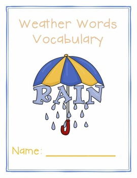 Weather Vocabulary - Weather Words