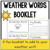Weather Words Vocabulary Booklet