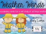 Weather Words: Vocabulary Cards for a Weather Unit
