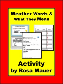 Weather Words & What They Mean