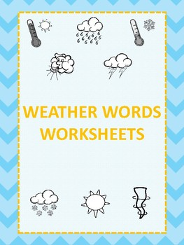 Weather Words Worksheets
