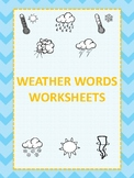 Weather Words Worksheets
