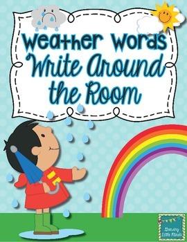 Weather Words Write Around the Room