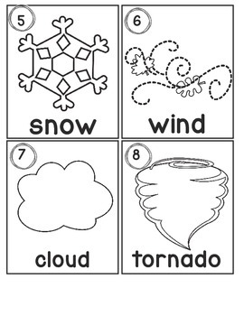 Weather Words Write Around the Room