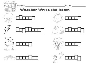 Weather Words Write the Room