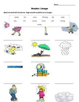 Weather Words for ELLs