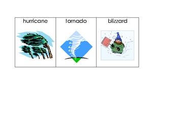 Weather Words for Writing Center