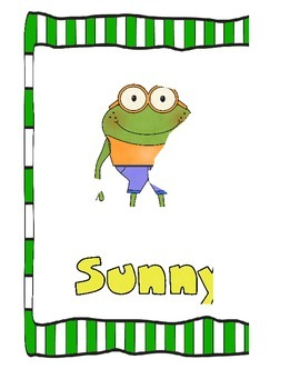 Weather Words with Froggies