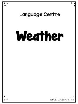 Weather Worksheet Pack 1