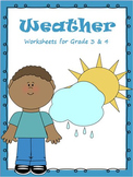 Weather - Worksheets, Activities & Bookmarks for Grade 3 & 4 /Google Classroom